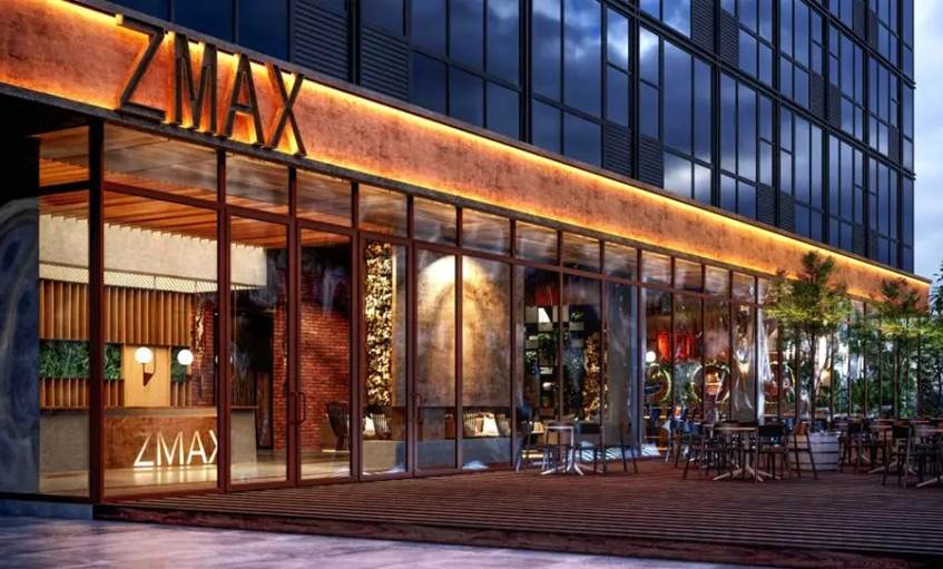 ZMAX酒店佛山大学项目外立面筹建效果图